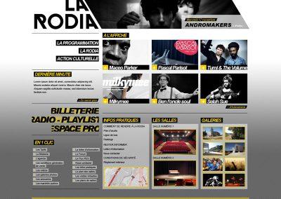 Webdesign et identité graphique (Salle de concert)