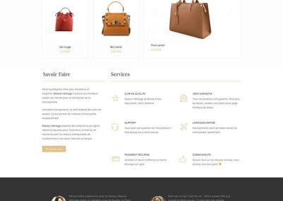 Création de boutique en ligne maroquinerie - Maison Héritage