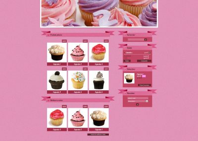 Design de thème pour boutique de vente de Cupcake Pâtisserie
