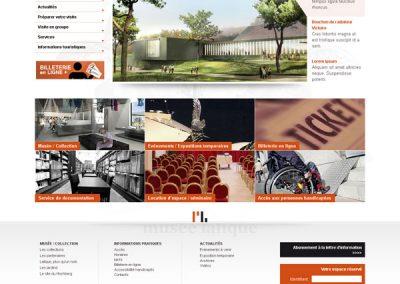Webdesign et identité graphique (Musée)